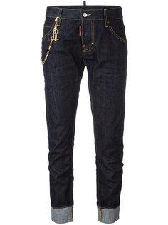 укороченные джинсы с цепочной отделкой Dsquared2