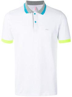 футболка-поло с контрастной отделкой  Sun 68