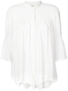блузка с рукавами клеш  Carolina Herrera