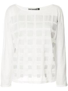 блуза с рисунком в виде решетки Issey Miyake