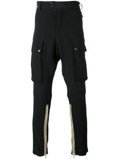 брюки карго с вышивкой Nº21