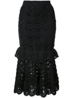 lace trumpet skirt Carolina Herrera