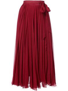 плиссированная юбка миди Carolina Herrera
