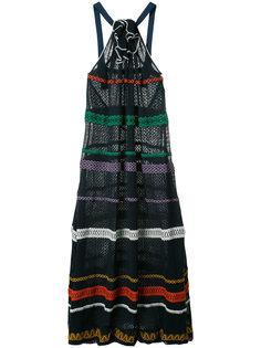 платье с петлей-халтер и узором Sonia Rykiel