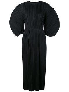 плиссированное платье с пышными рукавами Jil Sander