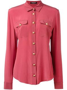 рубашка на пуговицах с нагрудными карманами Balmain