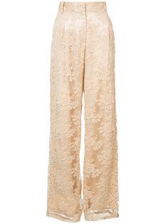 широкие брюки с кружевной отделкой Ryan Roche