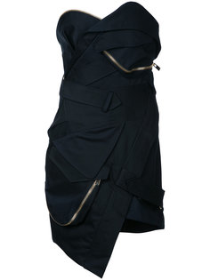 короткое платье-бюстье Alexandre Vauthier