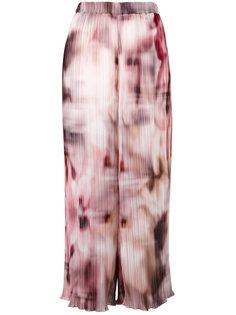 укороченные брюки с размытым рисунком Ermanno Gallamini