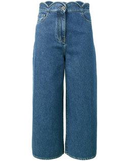 укороченные широкие джинсы Valentino