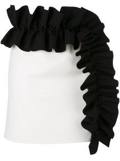 мини юбка с оборками MSGM