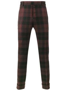 брюки в шотландскую клетку Valentino