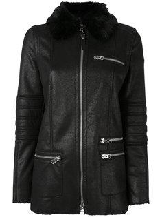 короткое пальто с меховым воротником Armani Jeans