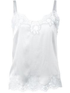 топ на бретелях с кружевной оторочкой Dolce & Gabbana Underwear