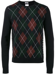 свитер с круглым вырезом и узором аргайл Valentino