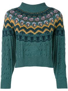свитер с косами и жаккардовым узором Temperley London