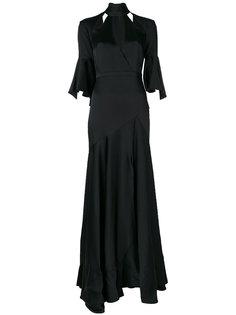 длинное платье Carnation Temperley London