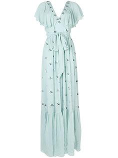 длинное платье с V-образным вырезом Temperley London