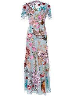 длинное платье Woodland Temperley London