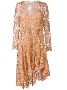 асимметричное кружевное платье Zimmermann