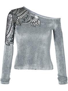 асимметричная блузка с вышивкой  Yigal Azrouel