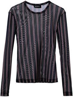 сетчатая блузка в полоску  Yigal Azrouel