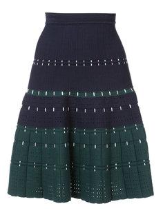 трикотажная юбка с декоративной строчкой  Yigal Azrouel