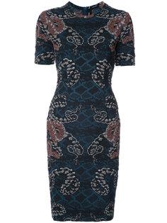 жаккардовое платье со змеиным узором  Yigal Azrouel