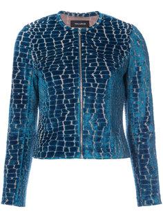 куртка с эффектом крокодиловой кожи  Yigal Azrouel
