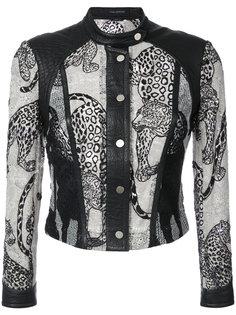 пиджак с вышитыми леопардами  Yigal Azrouel
