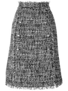 твидовая юбка с пуговицами  MSGM
