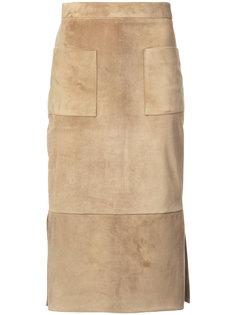 замшевая прямая юбка Cushnie Et Ochs