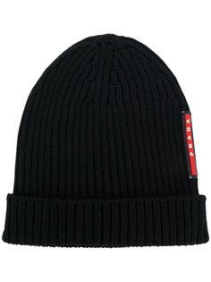 шапка-бини с ребристой фактурой Prada