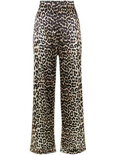 широкие брюки Dufort с леопардовым рисунком Ganni