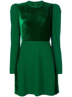 платье с контрастной вставкой спереди Elie Saab