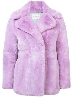 меховое пальто с широкими лацканами Alberta Ferretti