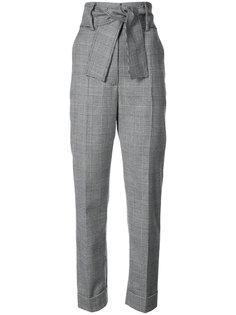 клетчатые брюки с завышенной талией Sara Battaglia