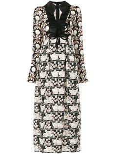 платье макси с цветочным узором Giamba