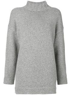 свитер свободного кроя с высоким воротником  Alexander McQueen