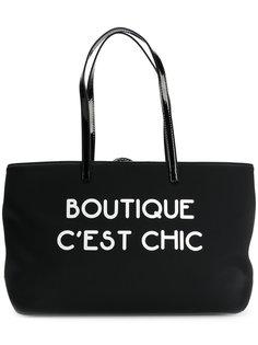 сумка на плечо с надписью  Boutique Moschino