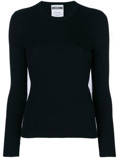 свитер со спинкой из тюля Moschino