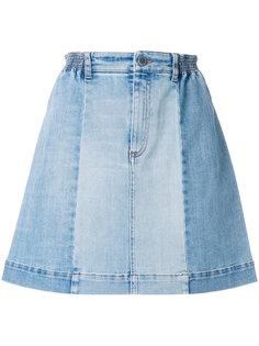джинсовая юбка с панельным дизайном Stella McCartney