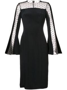 платье с вставкой из тюля Monique Lhuillier