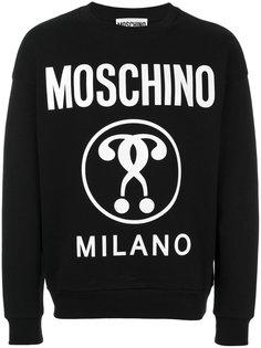 толстовка с принтом логотипа Moschino