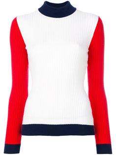 свитер в стиле колор блок Courrèges