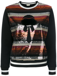 свитер с пайетками Karlito Fendi