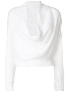 свитер с вырезом-хомутом Alberta Ferretti