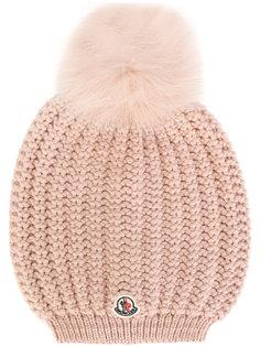 классическая вязаная шапка-бини Moncler