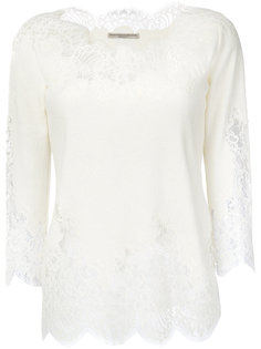 блузка с кружевными вставками Ermanno Scervino