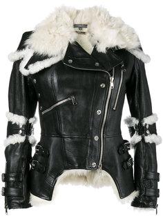 куртка с отделкой из овечьей шерсти Alexander McQueen
